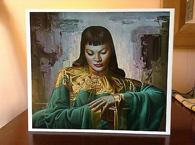 ORIGINAL RARE Tretchikoff Lady From Orient 1960s - Vintage Kitsch Art Print