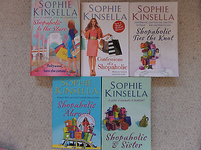 COLLECTION OF 5 x SOPHIE KINSELLA PAPERBACK BOOKS - SHOPAHOLIC SERIES