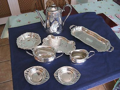 Vintage Walker & Hall Coffee Pot & Other Plated Items