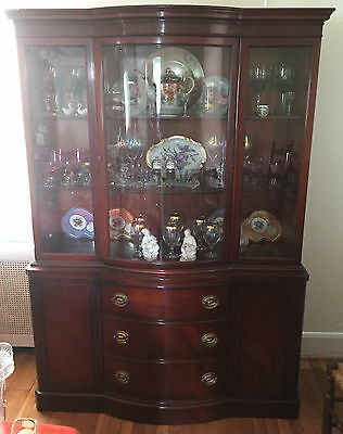 Mid-Century Vintage Drexel Mahogany China Cabinet * New Travis Court Collection