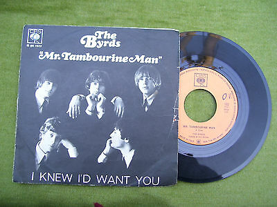"""THE BYRDS """" Mr. Tambourine Man / I knew i'd eant you  """" CBS 1965"""