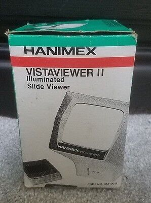 Hanimex VistaViewer II Illuminated Slide Viewer in Box Vintage 082100-9
