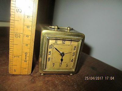 Antique DEP Alarm Clock . French travel Alarm Clock. Small Brass Dep clock