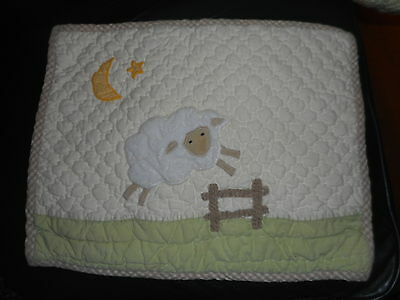 Pottery Barn Quilted Kids Baby Toddler Pillow Counting Sheep Lamb