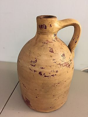 Antique Pottery Whiskey Jug Crock Stoneware 12 inches - No Markings