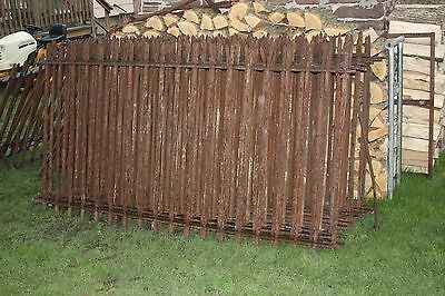 19 sections Antique WROUGHT IRON FENCE ornate ARCHITECTURAL SALVAGE SHIPPING?
