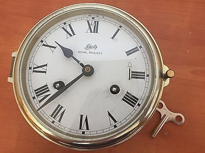 Vintage Brass Schatz Royal Mariner 8 Day Ships Clock W Germany