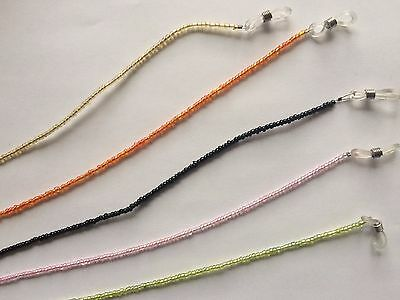 Reading Glasses Chain Spectacles Sunglass Beaded Chain Neck Cord Strap Holder UK