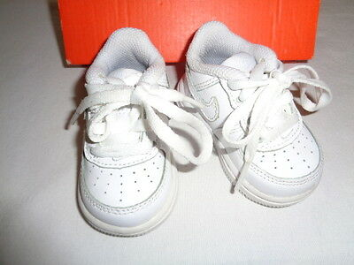 Nike Air Force 1 Low White Athletic Shoes Sneakers Toddler Size 2c 314194-117