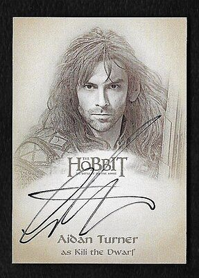 The Hobbit The Battle of the Five Armies Illustration Autograph Aidan Turner