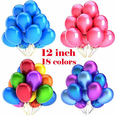 Plain helium latex balloons 100x12'' with FREE RIBBON,  Birthday party,balloons