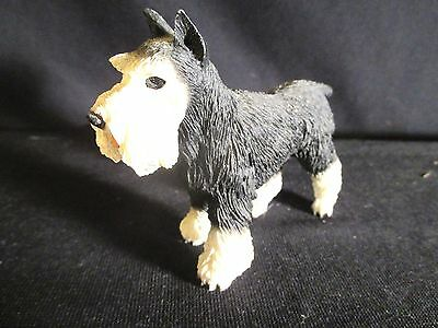 Vintage Black and White Schnauzer Dog Figure