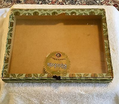 1906 Chiclets gum candy store display box, glass top, Frank Fleer & Co, vintage