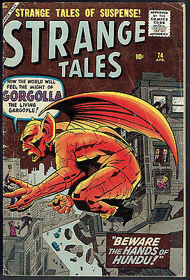 STRANGE TALES  74  VG-/3.5  -  Rare pre-hero issue from 1960!