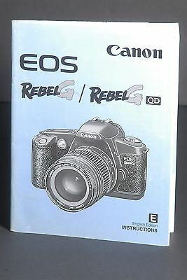Canon EOS Rebel G Camera Instruction Book / Manual / User Guide
