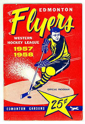 HTF 1957-58 Edmonton Flyers WHL Hockey Program vs. New Westminster Royals