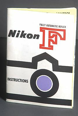 Nikon F Full Automatic Reflex 1961 Camera Instruction Book / Manual / User Guide