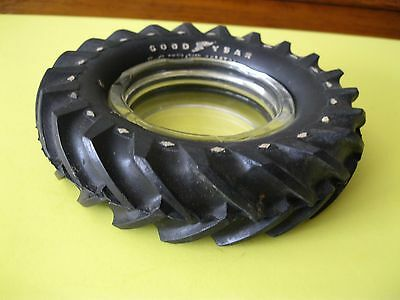 Vintage Goodyear Tire Astray With Glass Insert