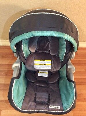 Graco SnugRide 34 35 Baby Car Seat Cushion Cover Canopy Set Gray Green Infant