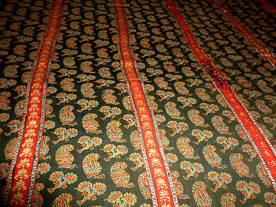 Antique 19th Century Loomed Wool Paisley Shawl 128 x128