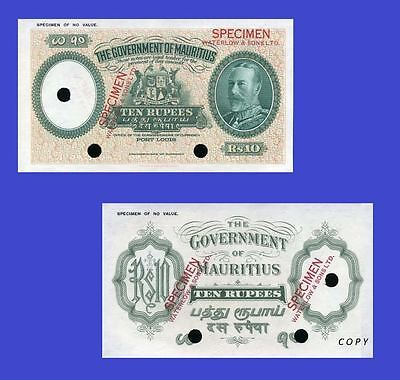 Mauritius-10-Rupees. UNC - Reproductions