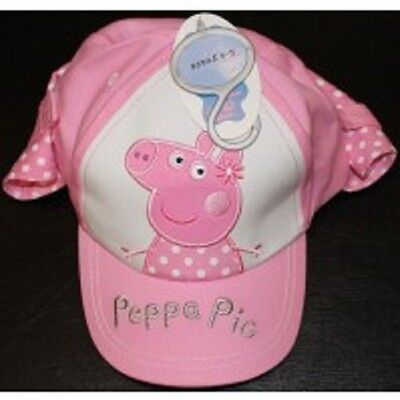 Pink/white Peppa Pig Sun Cap/hat For 2/4 Years Bnwt