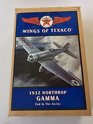 Wings of Texaco 1932 Northrop Gamma Airplane Bank 2nd in the Series Original Box