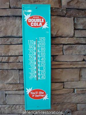 Double-Cola Drink, Ice Cold Thermometer, Retro Metal, Home Decor, Bar Pub, Signs