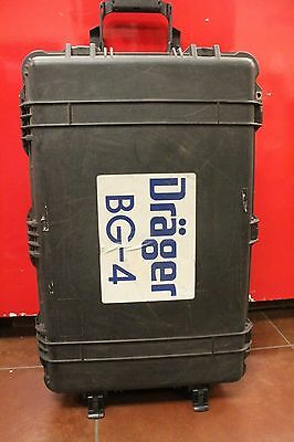 Drager  BG 4 SCBA  Rebreather/Mask/Oxygen Tank owned by Fire department w/Case