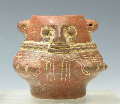 Choice Intact Pre-Columbian Costa Rican Pottery Urn Circa 600 to 900 AD
