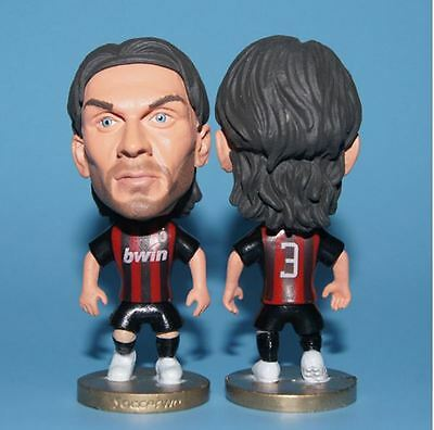 Statuina doll PAOLO MALDINI 3 AC MILAN CAPTAIN football action figure 7 cm doll