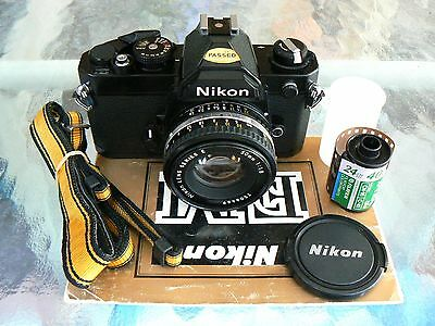 Nikon Fm Camera Black & Nikon 50Mm F1.8 Lens *manual 35Mm Slr Film Camera *mint-
