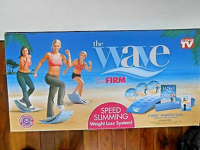 The Wave by The Firm Exercise System Mat w/3 DVD Set w/ Box