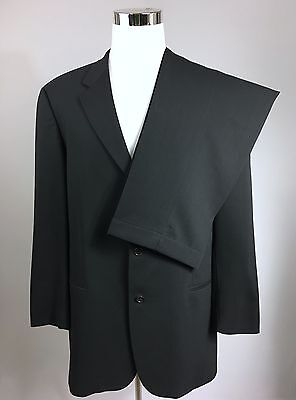 HUGO BOSS $875 Men's Einstein/Beta Charcoal Solid 3-Button Wool Suit 44L