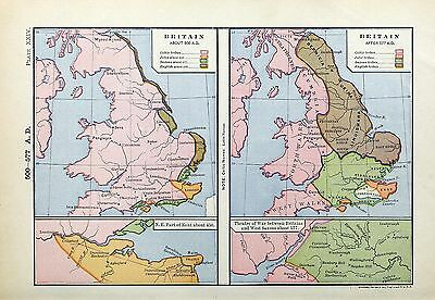 1905 map Britain 500 AD Kent about 450 AD Britons West Saxons about 577 AD 24