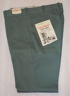 Vintage Lee-Prest Tech Twill Permanent Press Pants 33x30 Green LEE UnionMade NEW