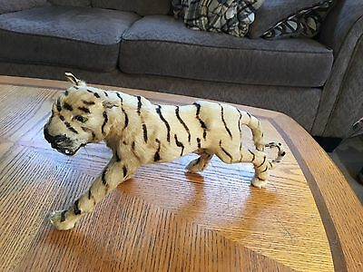 """Vintage Taxidermy Miniature White Tiger Real Hair 15"""" Long!"""