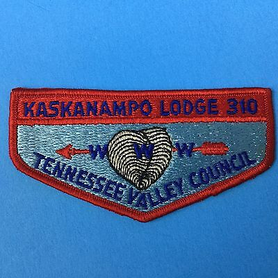 Boy Scout Kaskanampo Lodge 310 S1 Order Of The Arrow Flap Patch Tennessee Valley