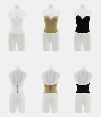 8d98d37696fcb 32-40 Most Sizes Low Back Wedding PushUp Bridal Tummy Control Seamless  Strapless