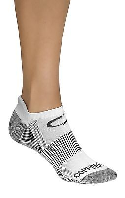 Copper Fit Sport Socks Large Mens 9-12 Womens 10-13 White 3 Pair Arch Support