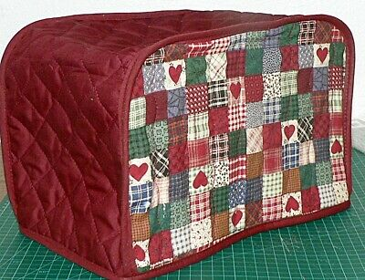 Quilted Toaster Cover Patchwork Hearts Made to order SEND YOUR MEASUREMENTS!!