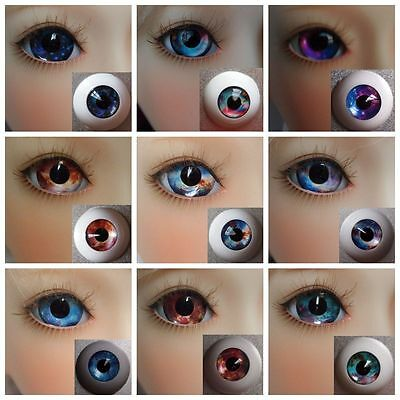 #HM Acrylic Eyes for BJD Doll 12 14 16mm 18 20mm 22 SD13/10 Dollfie Blue Pink