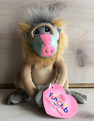 A4 Precious Moments Tender Tails Club Monty Mandrill Plush! 6 Inch Stuffed Toy