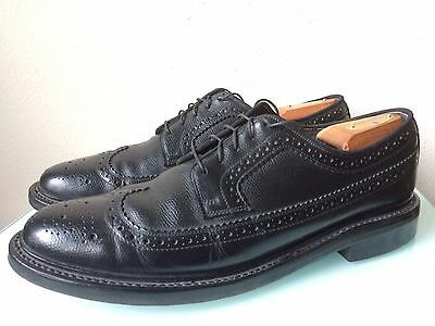 Men's Vintage Sears Black Leather Longwing Oxford Shoes size 11