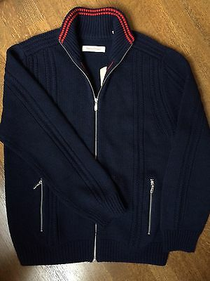 Men's Tommy Bahama Navy Blue Merino Wool Sweater size L