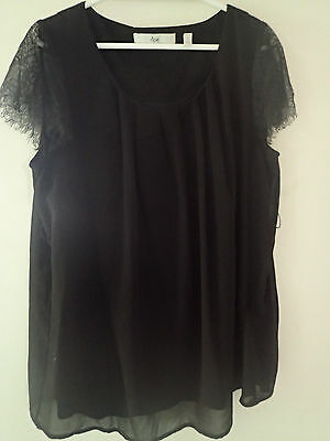 Ripe maternity top black large also suits medium lace sleeve detail
