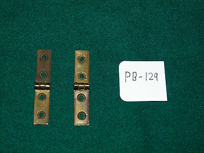 Antique Writing Slope Box Restoration - Pair Of Brass Strap Hinges