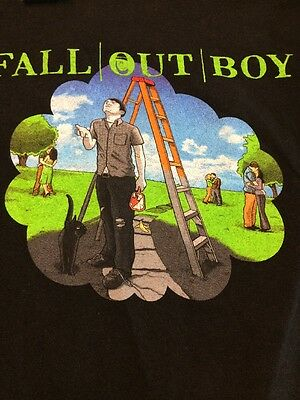 Fall Out Boy Concert TShirt Black Clouds And UnderdogsTour Graphic Tee  S A2-34