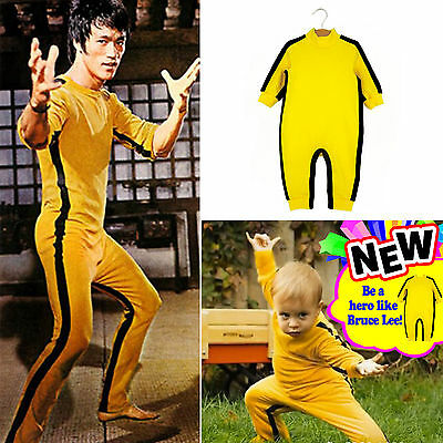 """0-6"" Years Old Bruce Lee Newborn Baby Child Romper Suit Toddler Jumpsuit"