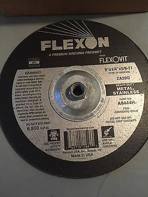 "Flexovit Grinding Wheel  Heavy Duty ZA20Q   9""x1/4""x5/8-11 (10 disc)"